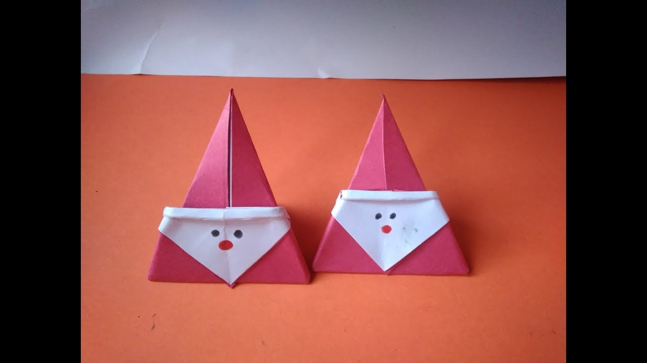 DIY crafts for Christmas - Cute paper Santa Claus , very easy made with waste paper make at home