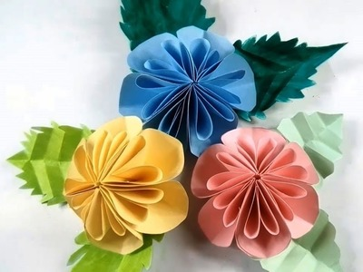 Paper art and crafts how to make paper swing paper crafts 02 diy easy big paper flowers making wall decor craft how mightylinksfo