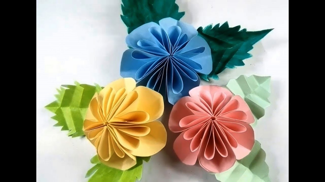 Diy Easy Big Paper Flowers Making Wall Decor Craft How To Make