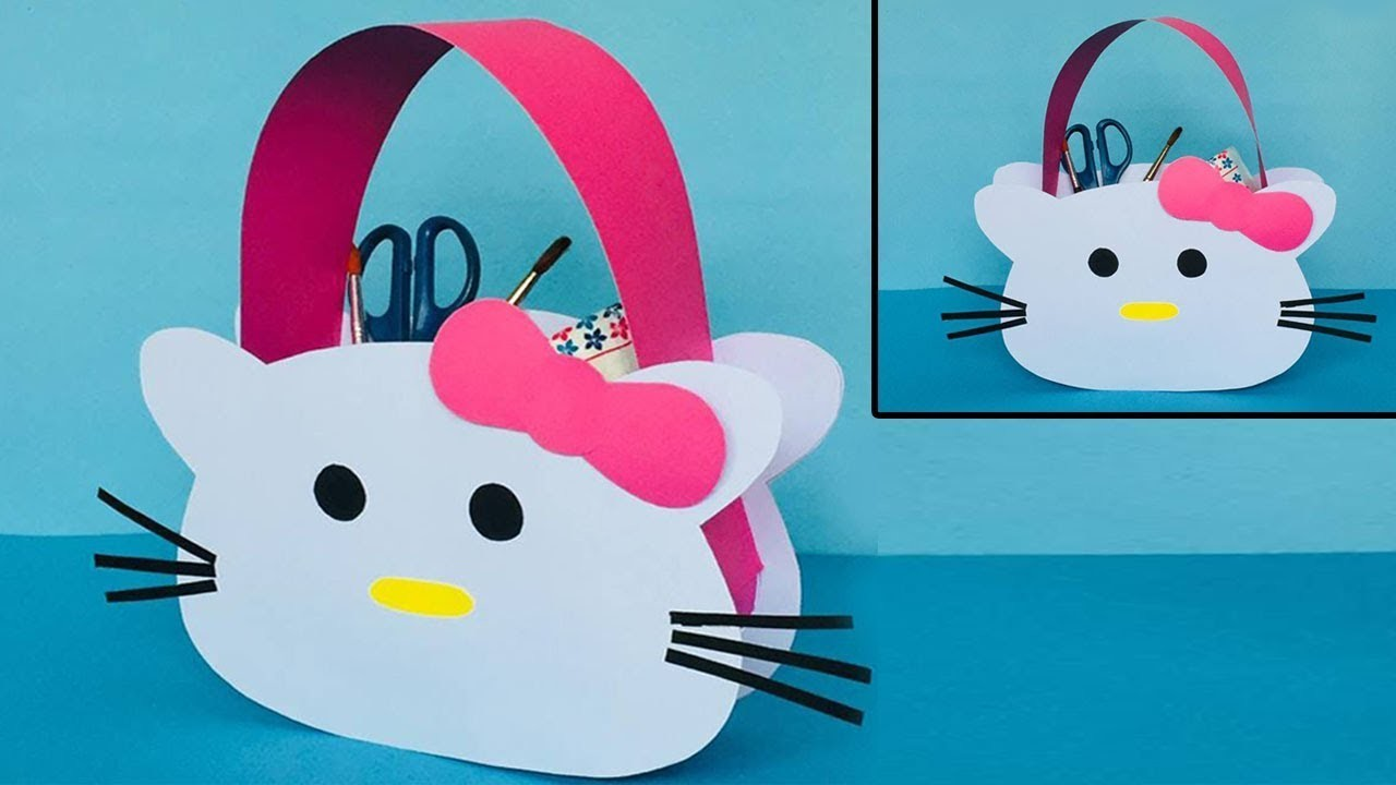 DIY Hello Kitty Paper Bag  d4fc047e3b90d