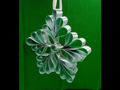 Diy How to make Christmas Ribbon Ornament