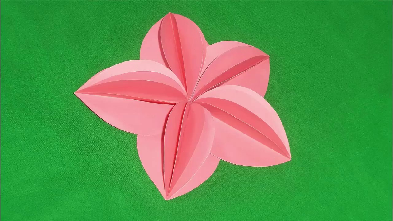 Diy how to make simple paper flowers my crafts and diy projects diy how to make simple paper flowers mightylinksfo Images