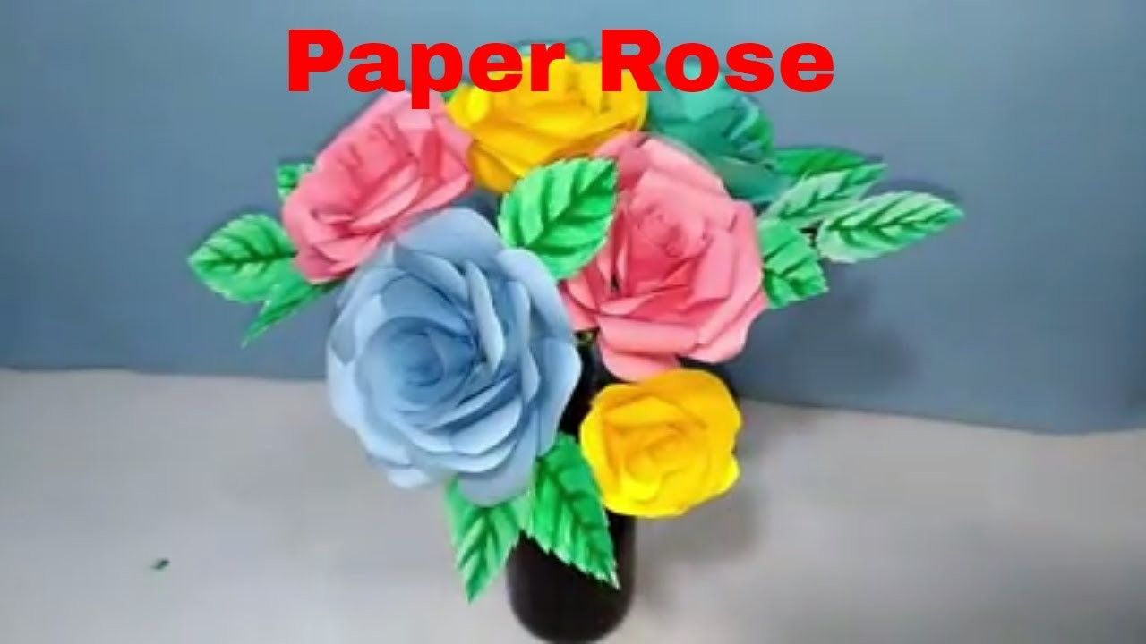 DIY Paper flowers rose tutorial | easy Origami Idea
