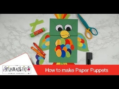 DIY Paper Puppets - Task 1 for The Funtasktic Family Project by Faber-Castell