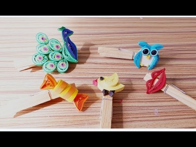 DIY Paper Quilling Flower For beginner Learning video 39. Paper Quilling Clipper