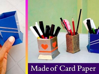 Diy pen holder made of card paper