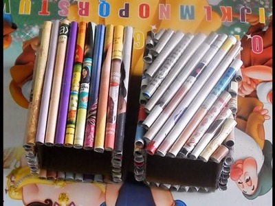 DIY- Two Style Of Magazine Pen stand    How To Make Paper Pen stand    Best Out Of Waste 《#2》