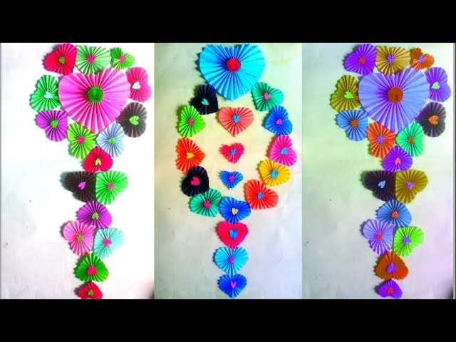 DIY Valentins day special whelmed making→how to make colour paper ...