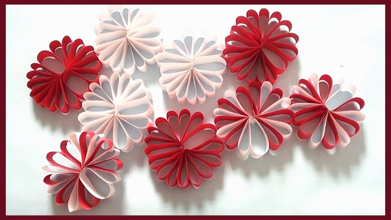 diy wall decor christmas room decoration simple paper crafts