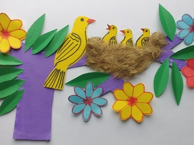 DIY-Wall Decoration !! How To Make Most Beautiful Paper Wall Decoration
