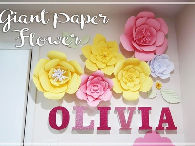 EASY DIY Giant Paper Flower | Step by Step