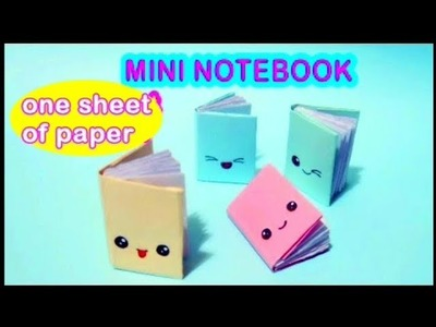 Easy Diy Mini Notebook | From One Sheet Of Paper | The Craftist Girl |