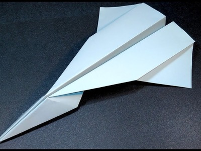 Easy Paper airplane. How to make origami far flying jet.
