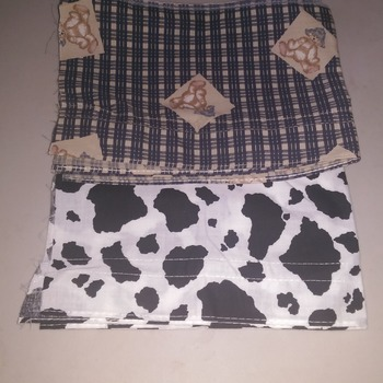 "Fabric selections for cows, teddies & pigs (8 & 12"")"