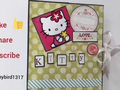 Hello Kitty themed scrapbook