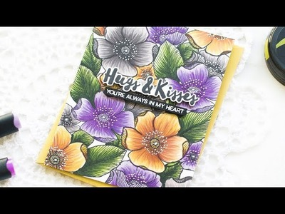 How To Color Floral Background w. Altenew Artist Markers (Alcohol Marker Coloring)