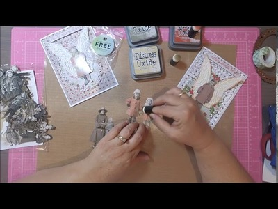 How to color your Tim Holtz Paper Dolls