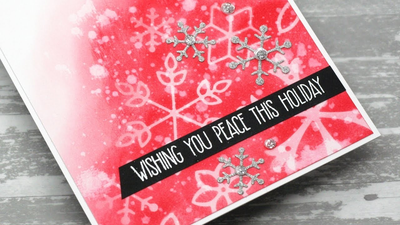 How to Create a Masked Snowflake Background