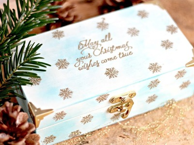 How to decorate a wooden box using hit emboss tools from Stampin' Up!
