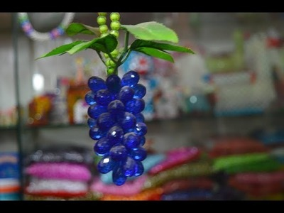 How to make a beaded grapes fruit\diy beaded grapes fruit