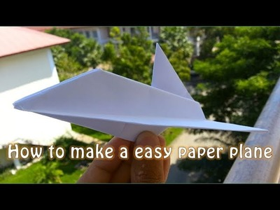 How to make a paper plane - easy and beauty from Asia by A4 paper