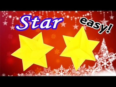 How to Make a Paper Star Easy but Cool  | Origami Christmas Decorations DIY for Kids