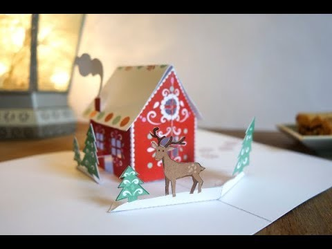 How to make a Pop Up Gingerbread house (short version)