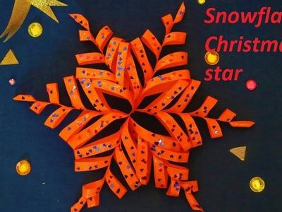 How to make a snowflake Christmas star- Easy DIY Christmas Decorations
