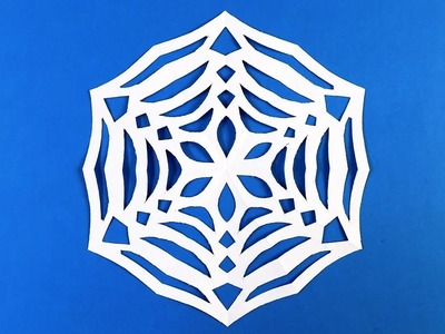 how to make a snowflake out of paper video