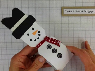 How to Make a Snowman Treat with the Envelope Punch Board