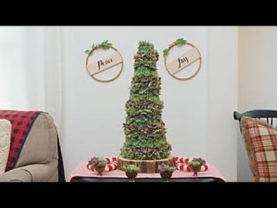 How to Make a Succulent Christmas Tree - Way to Grow - HGTV