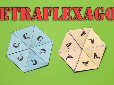 How to make a Tetra - Hexaflexagon tutorial. How to make a Flexagon origami | ORGANZA