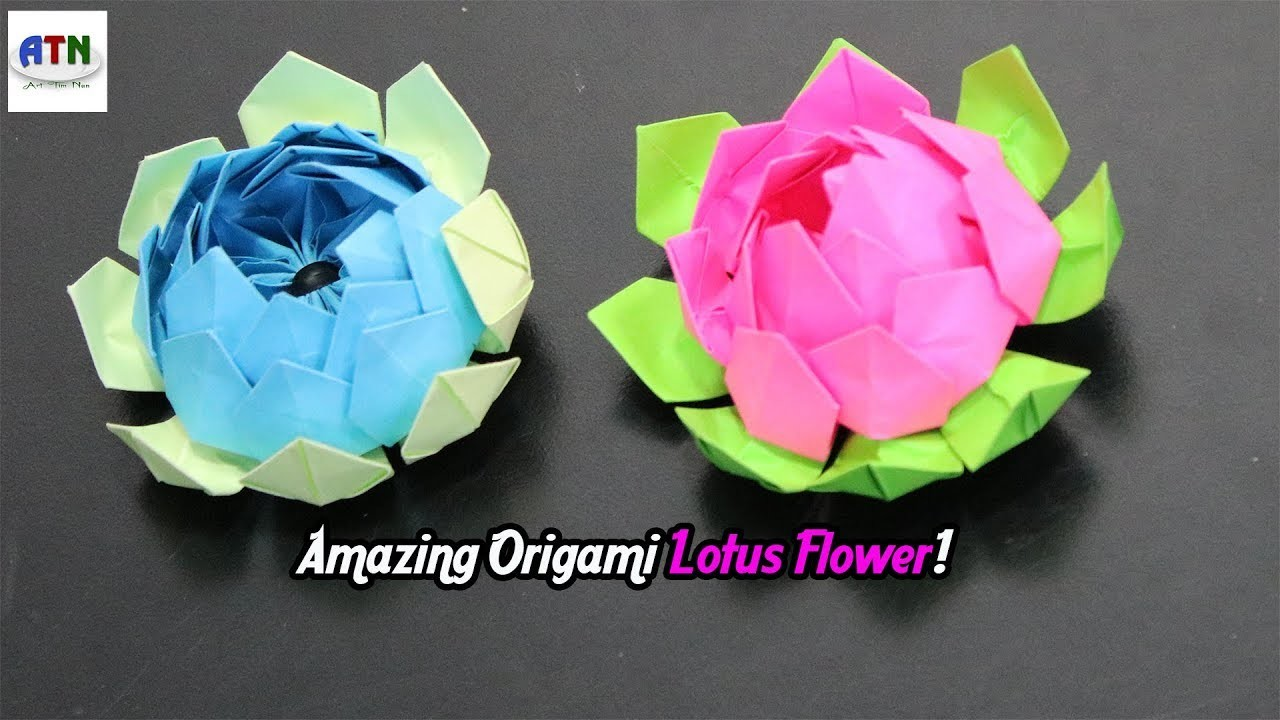 How to make amazing origami lotus flower diy paper crafts paper how to make amazing origami lotus flower diy paper crafts paper flowers izmirmasajfo