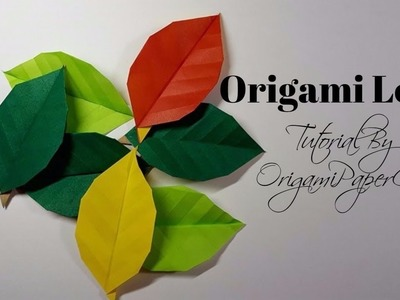 How To Make An Origami Leaf ( Cách Xếp chiếc lá )| Tutorial By OrigamiPaperCraft