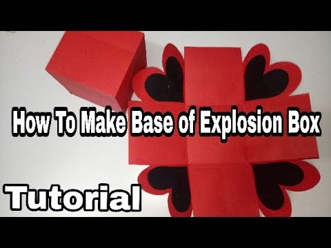 How To Make Base of Explosion Box. Full Tutorial (Black N Red Love Explosion Box)ArtsHub Handmades