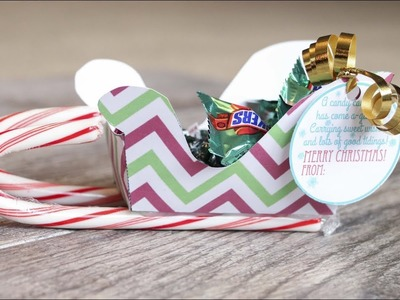 How to Make Christmas Candy Holder Sleighs