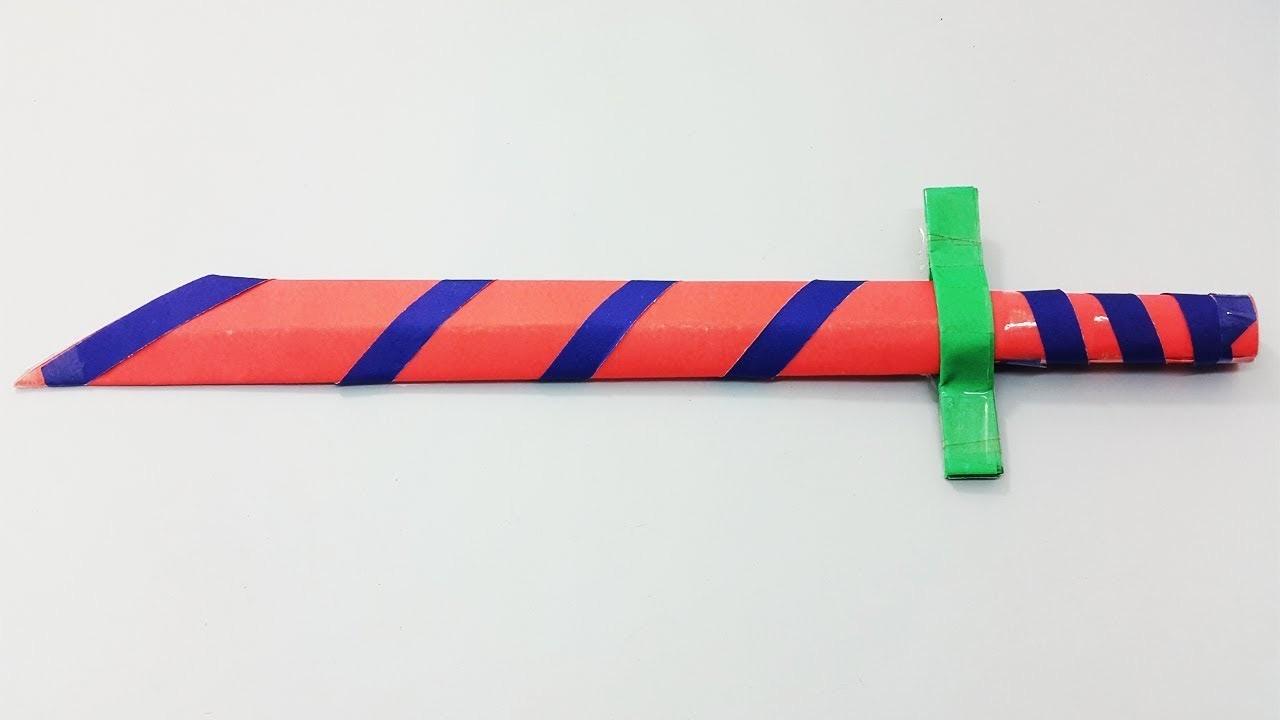 Easy Paper Katana Origami Japanese Sword 30 Tutorial How To Fold An Samurai Make Diy Instructions