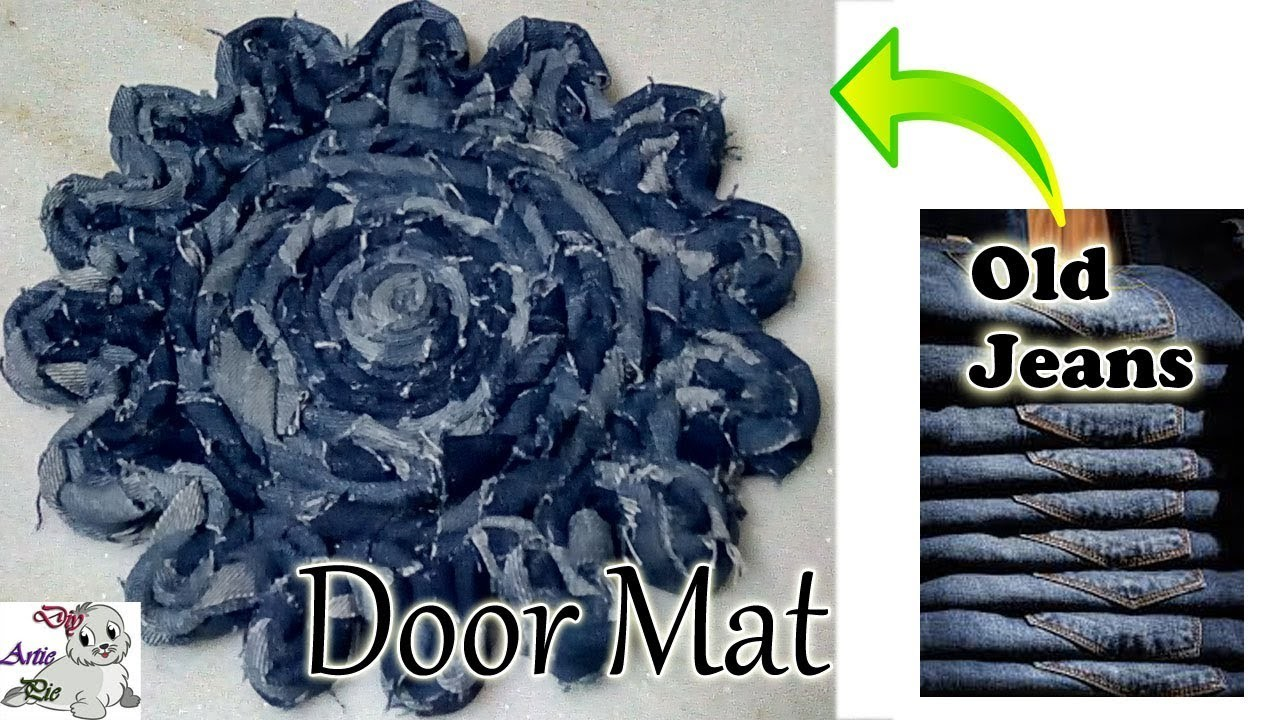 How to make Door Mat using Waste. Old Jeans || Diy