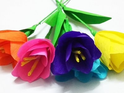 How to Make Flowers with Paper | Making Paper Flowers Step by Step | DIY I Paper Crafts | Crafts Now