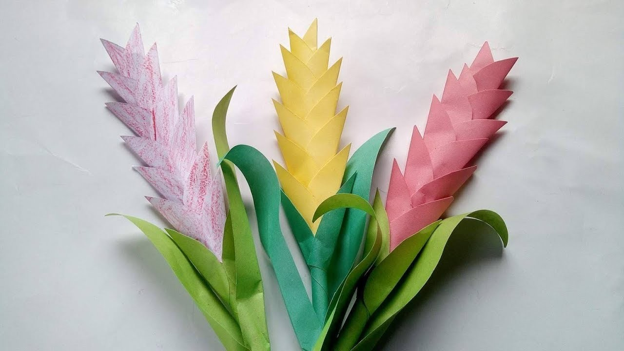 Flower How To Make Flowers With Paper Tube Flower How To Make