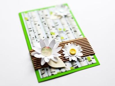 How to make : Greeting Card with Flowers | Kartka Okolicznościowa z Kwiatami - Mishellka #271 DIY