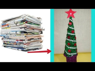 How To Make Mini Christmas Tree Using News Paper