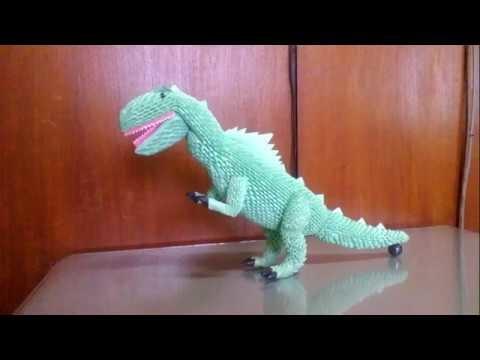 How to make origami 3d tyranosaurus PART 2