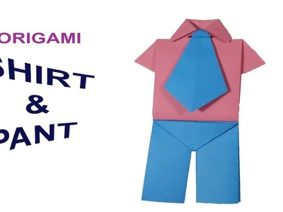 How to Make origami paper shirt tie and pant for your toy |DIY ????????