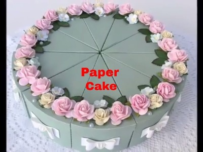 HOW TO MAKE PAPER CAKE FOR BIRTHDAY || BIRTHDAY.ANNIVERSARY GIFT IDEAS