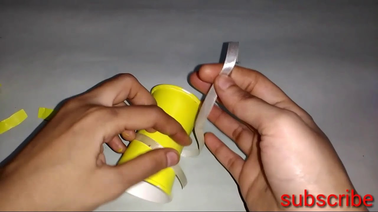 How To Make Paper Cups Trophy For Kids