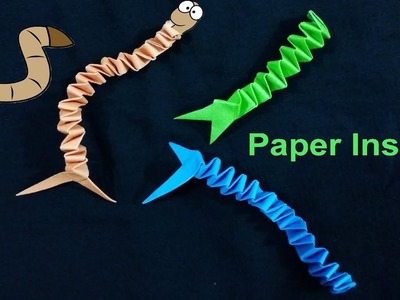 How to make paper Insects by color paper easy tutorial | Origami Insect