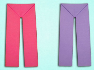 How To Make Paper Pants - Origami Pant Making Tutorial Easy.