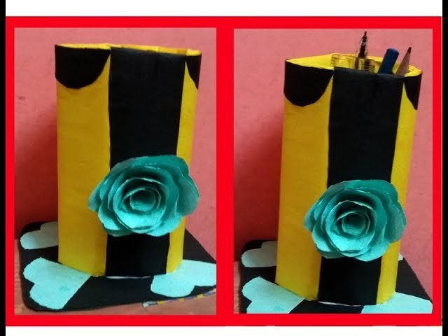 How To Make Pen Stand Origami Pen Holder Paper Pencil Holder