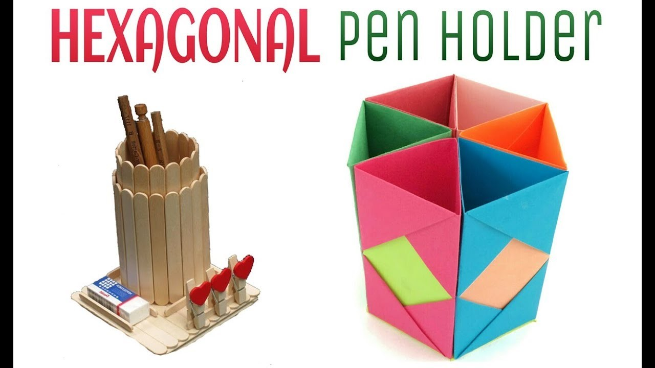 how to make pen stand with paper origami pen holder